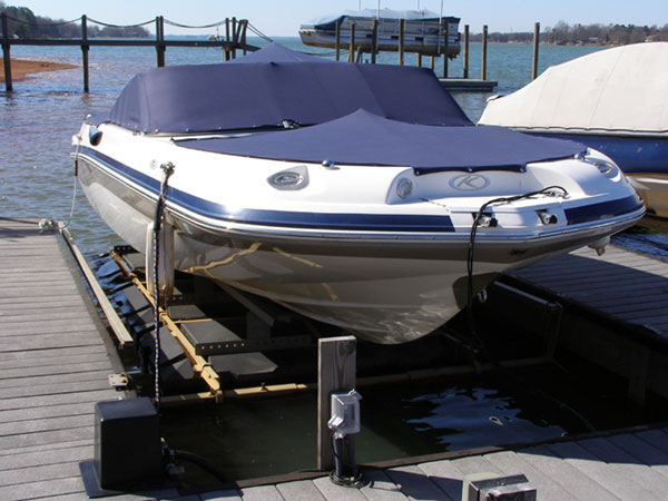 4000# 4 Corner Boat Lift - FloatAir Boatlifts
